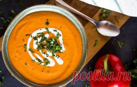Суп-пюре с запеченным перцем и цветной капустой - кулинарный пошаговый рецепт с фото • INMYROOM FOOD