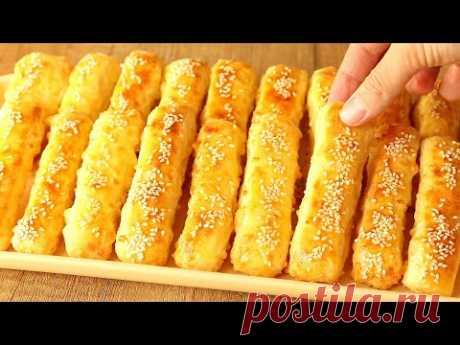 ТВОРОЖНЫЕ Палочки С СЫРОМ 🧀 Потрясающе ВКУСНЫЕ! Минимум Муки! Выпечка Без Дрожжей! Cheese sticks