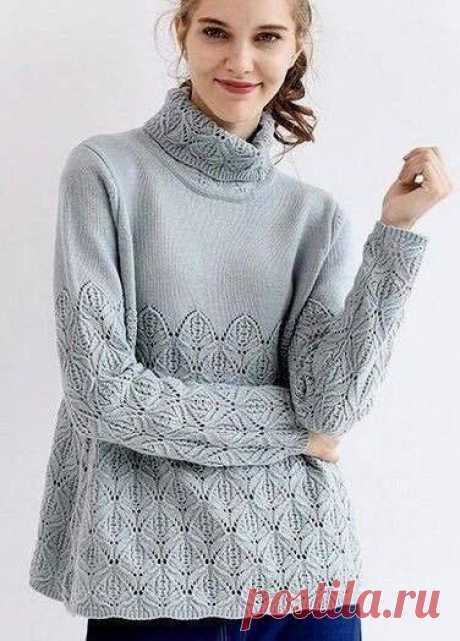 Красивые пуловеры. Идеи и схемы для вязания спицами   Южная сова   Яндекс Дзен