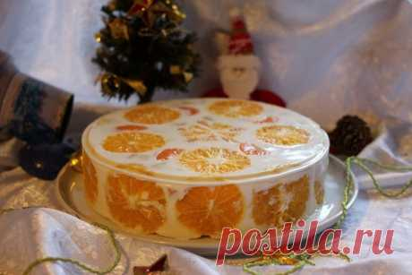 Как приготовить желейный торт фруктовый новый год - рецепт, ингридиенты и фотографии