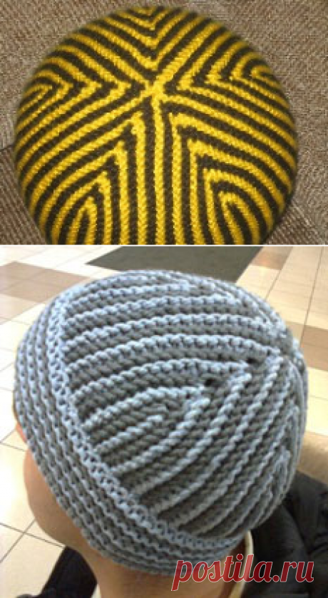 Супер-шапка для мужчины - Шапочки и панамки - Схемы вязания - Авторский проект Натальи Грухиной