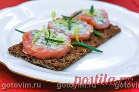 Закуска из красной рыбы с авокадо и творожным сыром. Рецепт с фото / Готовим.РУ