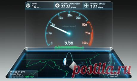 Как узнать скорость своего интернета в данный момент?