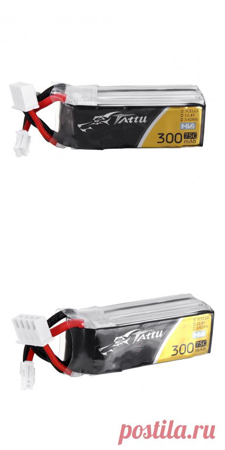 tattu 11.4v 300mah 75c 3s ph2.0 plug lipo battery for happymodel mobula7 v3 frame 75mm 2s whoop Sale - Banggood.com
