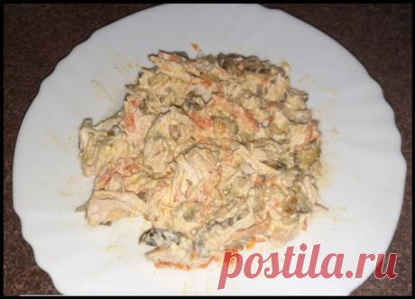 """Просто и вкусно - готовлю""""Пикантный"""" мясной салат, который съедается моментально"""