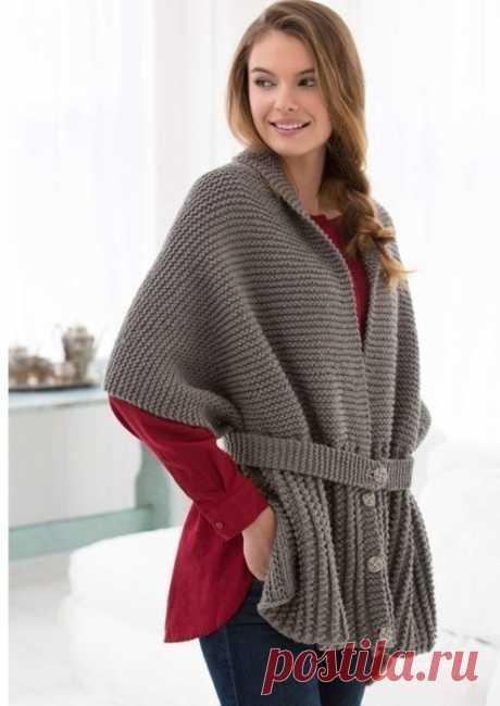 Просто,модно и красиво-винтажный шарф-свитер