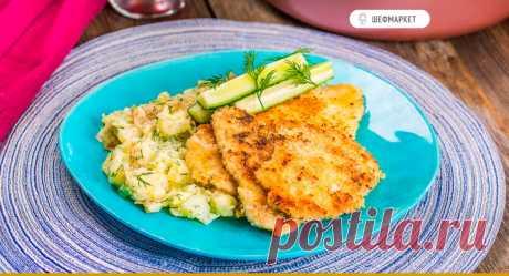 Шницель из индейки с картофелем по-домашнему | Что приготовить на ужин?