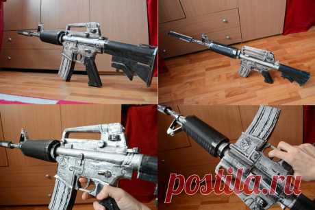 Crossfire M4A1-S Silver Papercraft 2 Originally from the MMOFPS game Crossfire. The silencer is removable. Original model:Crossfire(G4box Inc,Smilegate Inc,Neowiz Corp) Copyright to < for model Extracted and converted to .mdl file ...