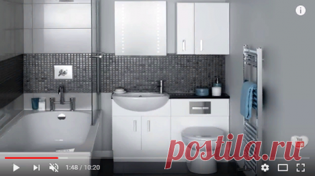 💗 Идеи для маленькой ванной | Дизайн маленькой ванной совмещенной с туалетом | ванная в хрущевке - YouTube