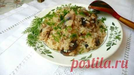 Каша с грибами в мультиварке на воде рецепт с фото пошагово - 1000.menu