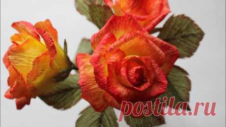 Розы из гофрированной бумаги | Другие поделки из бумаги и картона