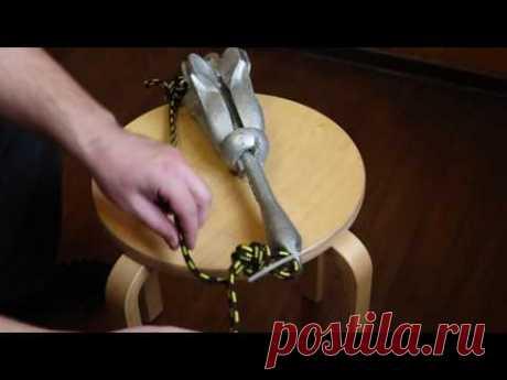Как привязать якорь - защита от зацепов (коряг)