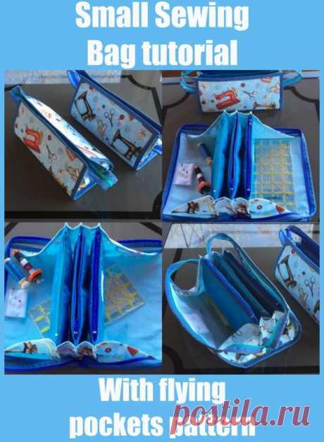 Учебник для маленьких швейных сумок с рисунком летающих карманов - Sew Modern Bags