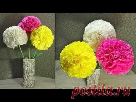 Как сделать цветы из салфеток. Цветы своими руками