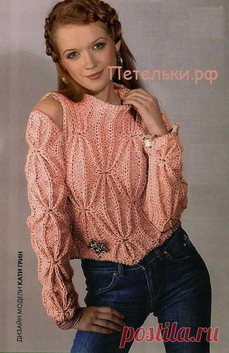 Розовая мечта. (Розовый вязаный свитер).