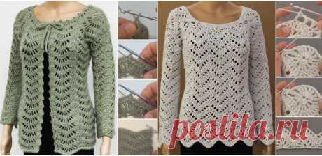 Crochet Jacket - Free Tutorial - Design Peak The moment we came this beautiful ripple design we decided to find appropriate projects for our beloved readers. We have found two very similar yet