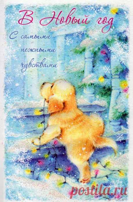 Чудесные Новогодние открытки! ♫♪♫♪ много... (Иллюстратор Марина Федотова)