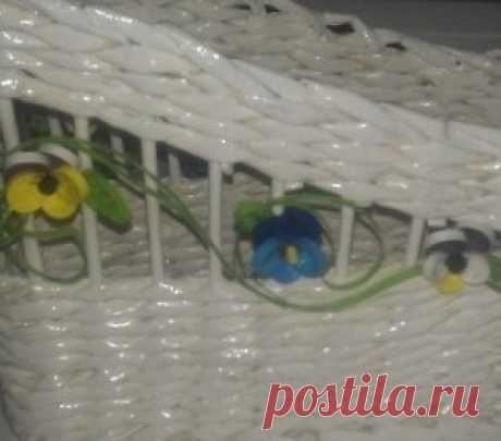 Weaving from newspaper tubules for beginners step by step