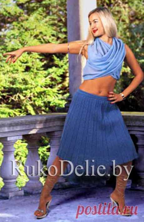 Расклешенная юбка, связанная на спицах :: Платья и юбки :: Женская одежда :: Вязание спицами/Knitted dresses and skirts for women :: RukoDelie.by