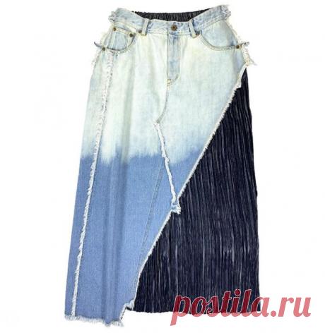 Еще одна юбка из джинсов. Вариант юбки из джинсов и куска плиссировки…