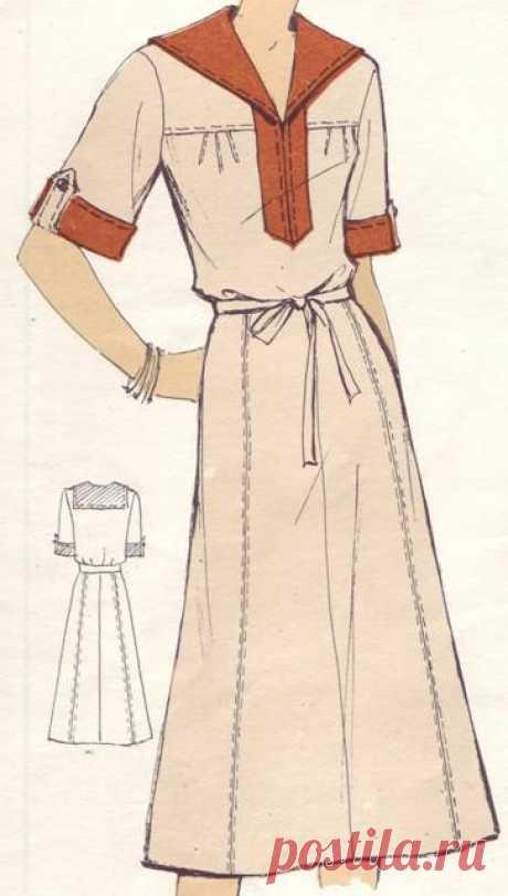 Фасоны и чертежи выкроек платьев, костюмов