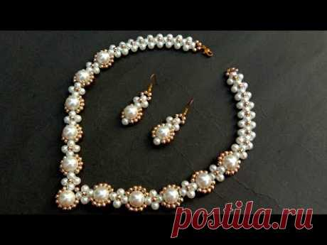 How To Make Pearl Necklace//Bridal Necklace// Useful & Easy