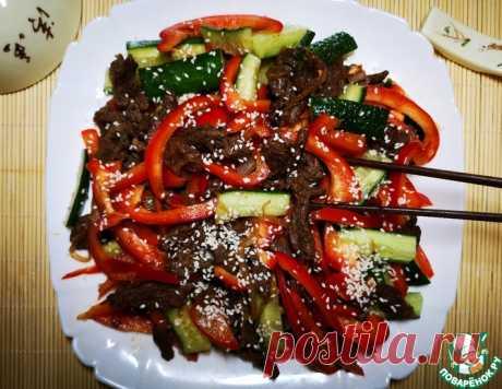 Тёплый мясной салат в азиатском стиле – кулинарный рецепт