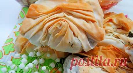 Пирожки с курицей и шпинатом из теста фило, пошаговый рецепт с фото