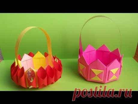 Como Hacer Rápidamente la Cestita Sólida de la Dimensión Necesaria. El origami del Papel a la Pascua, 8 Martha