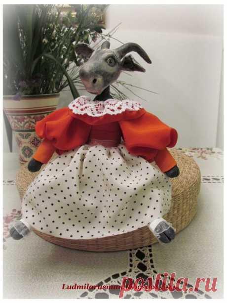 Изготовление головы из папье-маше для текстильной куклы..