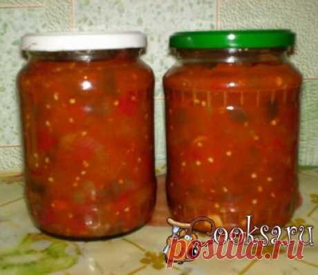 Баклажаны с болгарским перцем в томатном соусе фото рецепт приготовления