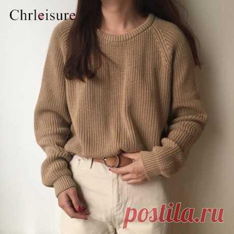 Женский свитер с длинным рукавом CHRLEISURE, простой классический базовый свитер с рукавами реглан|Водолазки| Детские жаккарды| роспись по ткани | готовые выкройки |