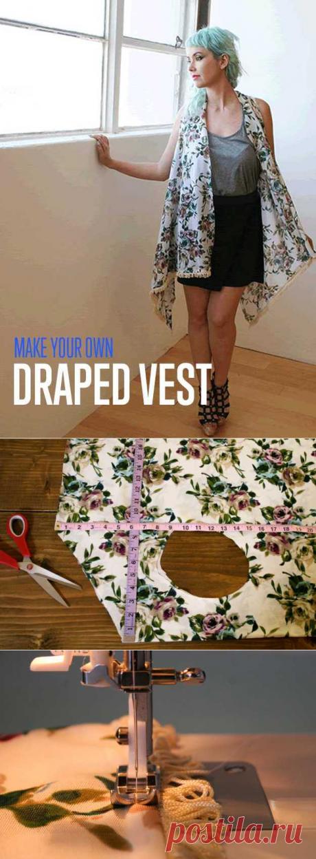 Простой нет-шьют драпировки жилет | лучшее из модных тенденций осени поделки готовы