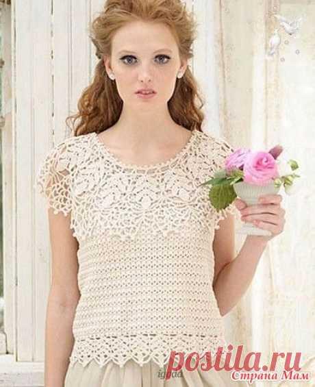Романтическая блуза с пелериной - Вязание - Страна Мам