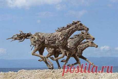 Лошади из коряг от Джеймса Дорана-Уэбба - Prikoly.us
