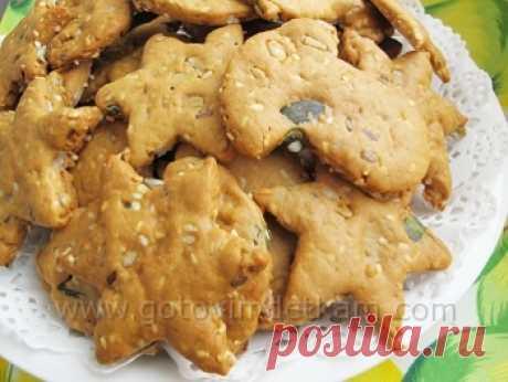 Медовое печенье с семечками - Детские рецепты