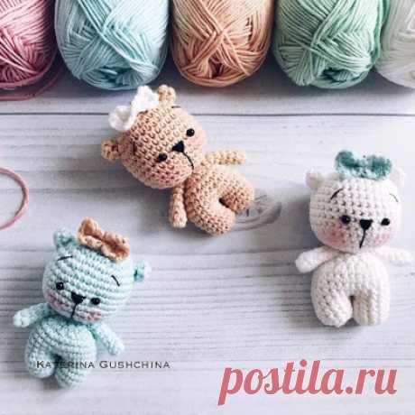 1000 схем амигуруми на русском: Маленькие мишки крючком