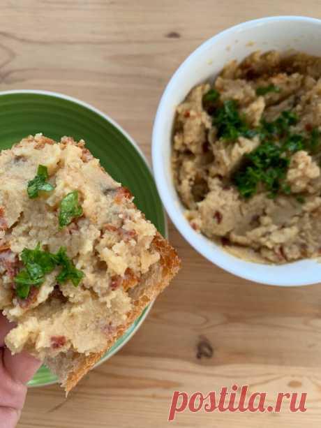 Хумус с вяленными помидорами   FoodSlut   Яндекс Дзен