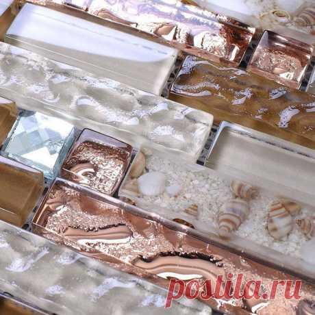 Блокировочное стекло Мозаичная плитка коричневое розовое золото 13 Скошенная кухня назад | Магазин электронных гаджетов, автозапчастей, автоаксессуары и многое другое