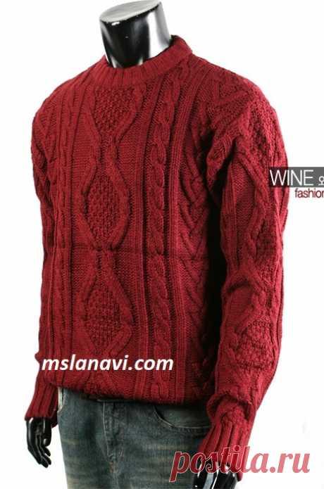 Мужской свитер аранами | Вяжем с Лана Ви