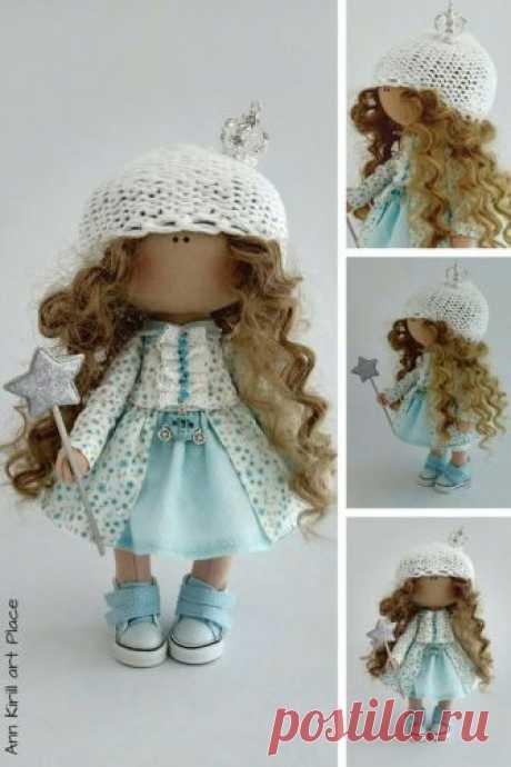 Handmade Art Doll Nursery Decor Doll Textile Soft Doll | Etsy