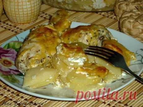 Картошка с куриными ножками в духовке / Вкусные привычки