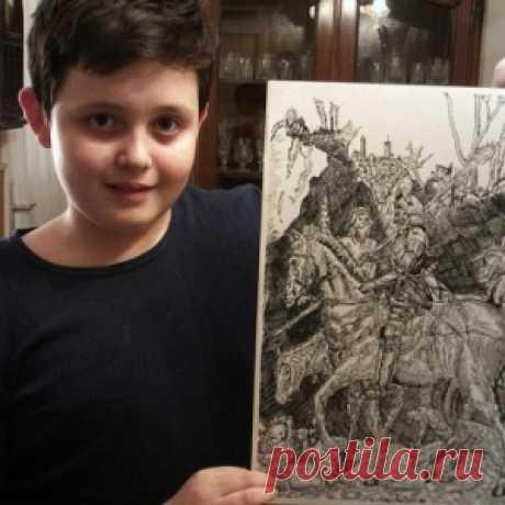 Мальчик-сломай-глаза . Один из самых заметных художников-вундеркиндов нашего времени —  Душан Кртолица из Сербии