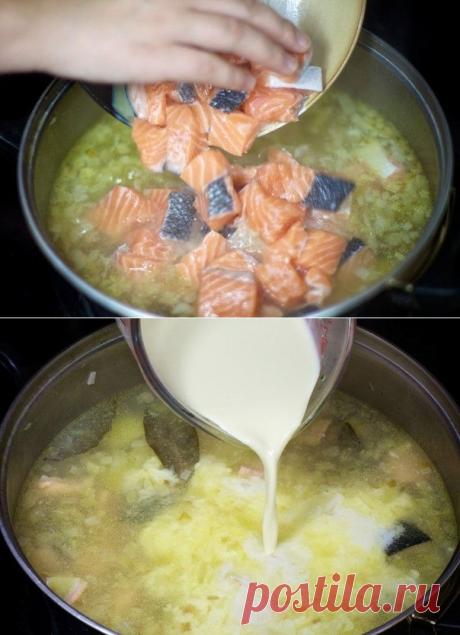 Как приготовить чаудер из лосося со сливками. - рецепт, ингридиенты и фотографии