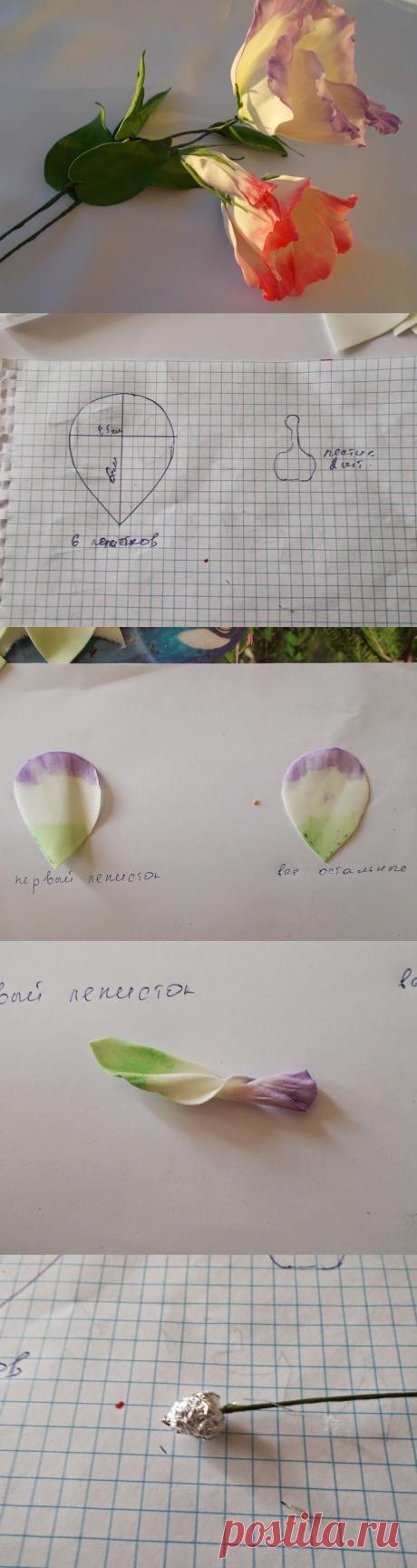 Эустома — нежные цветы из фоамирана — Делаем руками
