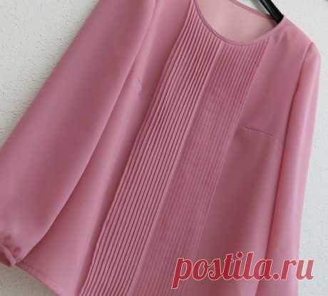 Как сделать декоративные складочки на блузке