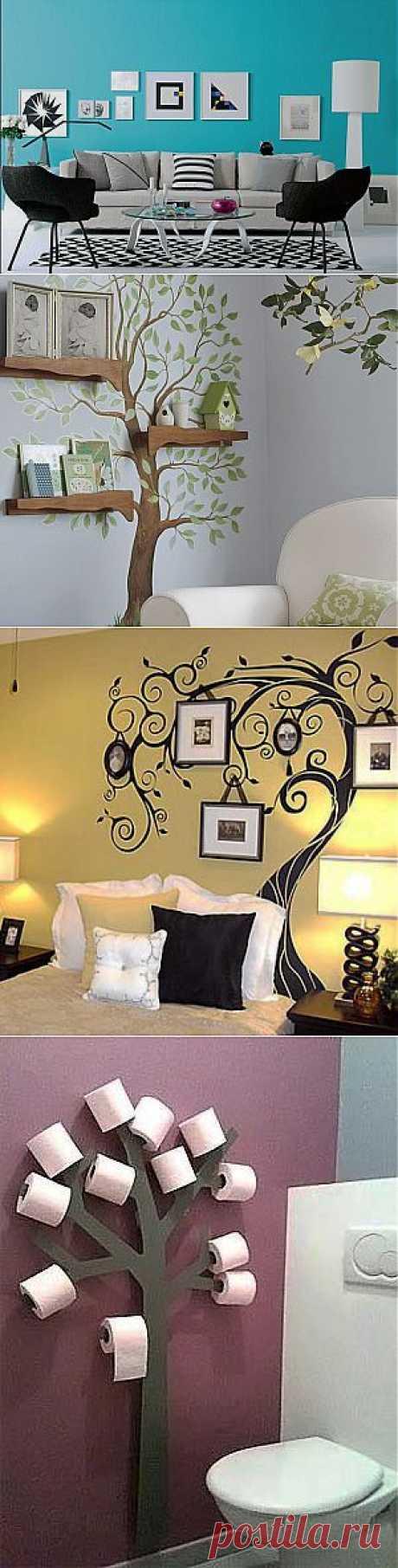(+1) тема - Креативные идеи для украшения стен в доме   Интерьер и Дизайн