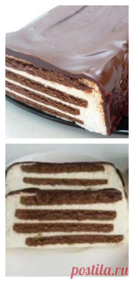 Творожный торт «Полосатый» без выпечки - tolkovkysno.ru