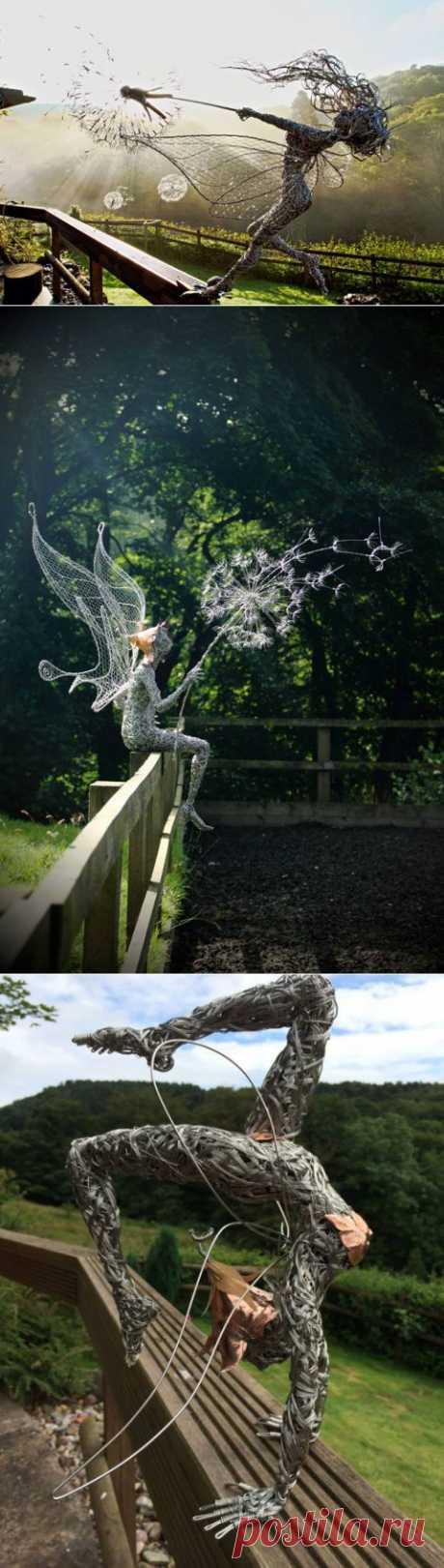 (+1) тема - Скульптуры из проволоки | Очумелые ручки