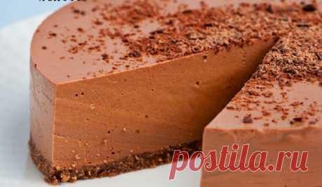 ШОКОЛАДНО-ЙОГУРТОВЫЙ ЧИЗКЕЙК (БЕЗ ВЫПЕЧКИ). Такой рецепт должен быть на заметке у каждой хозяйки Ингредиенты: Основа: 60 гр. печенья 50 гр. сливочного масла 2 чайные ложки какао Шоколадный чизкейк 500 натурального густого (несладкого) йогурта 100 гр.